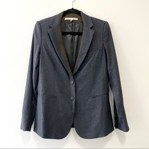Veronica Beard Navy Wool School Boy Dickey Blazer